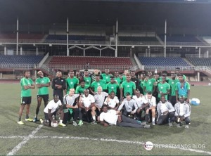 The team touched down on Friday night ahead of the 2021 AFCON Qualifiers clash today. The team had an evening training session at the Setsoto Stadium in Maseru. The kick off is 5pm.