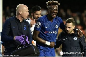 Abraham had to be taken off on a stretcher at the Mestalla before going to hospital instead of receiving treatment in the dressing room. Tammy Abraham was taken straight to hospital on Wednesday night after damaging his stomach during Chelsea's Champions League clash with Valencia.
