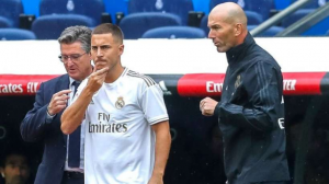 "Real Madrid manager Zinedine Zidane has revealed what Eden Hazard lack at the moment at the Santiago Bernabeu. The Belgian has only one goal in his eight games for Real Madrid since his €130 million move from Chelsea in the summer.Zidane says the Belgian attacker needs to score more goals for Real Madrid.""He has looked better to you and to us as well,"" the French coach told a journalist at his press conference on Friday when asked about the Belgian's progress. ""What he is lacking is to score more regularly. We are happy with his performances on the pitch.""We are seeing him much better every day and it was normal that it would take a little time.""Hazard has stepped up his performance after his slow start having suffered an injury at the beginning of the season."