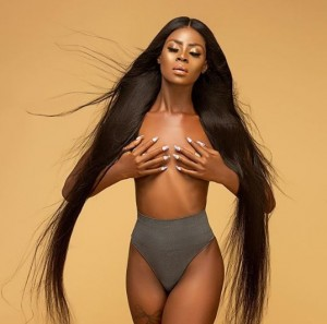 Khloe of the Big Brother Naija reality show has no qualms flaunting her body online. She just posted a braless picture of herself as she bagged a new endorsement deal.