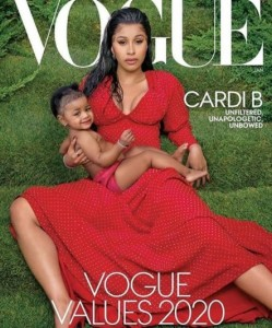 Cardi B And Her Daughter Cover Vogue Magazine 2020 Issue Cardi B was unveiled as the fourth cover star for Vogue's January 2020 issue, and the cover also features her daughter, Kulture Kiari.