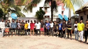 Operatives of the EFCC, Uyo Zonal Office in a joint operation with some of the Commission's operatives from Abuja, in the early hours of Thursday, November 28th, stormed a buildin