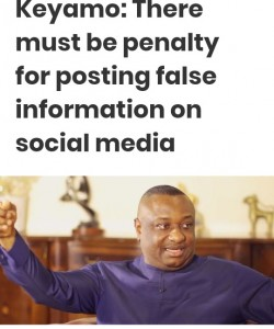 Festus Keyamo, minister of state for labour and productivity, says there must be penalty for positing false information on social media.