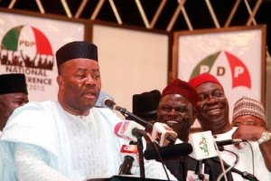 Akpabio withdrew from rerun poll out of fear of another defeat – PDP The Peoples Democratic Party (PDP) in Akwa Ibom state has mocked the Niger Delta Affairs Minister, Senator Godswill Akpabio, saying he withdrew from the rerun poll to avoid another defeat.