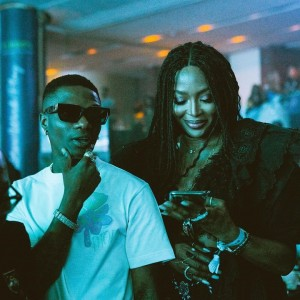 The singer performed at Tiwa Savages concert last night and was joined by his crew and British supermodel Naomi Campbell. He posted pictures of the event on his instagram page.