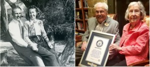 John Henderson and Charlotte Curtis aged 106 and 105 respectively who are officially recognized by the Guiness Book of World Records as the world's oldest couple and will on December 22, 2019, celebrate their 80th wedding anniversary, and 85 years after sitting in a zoology class in 1934.