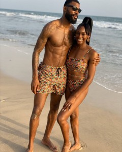 BBNaija star, Mike Edwards' wife, Perri Edwards Shakes-Drayton shared photos of her rocking bikini via herInstagram Page.