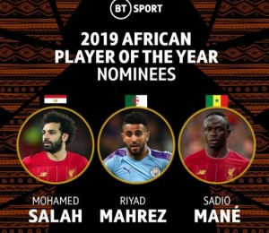 The CAF Awards 2019 will hold tonight at 8pm at the Albatros Citadel Sahl Hasheesh, Hurghada in Egypt. It is the 28th edition of the CAF Awards ceremony.  Here are the top three (3) contenders for all the categories (in alphabetical order):