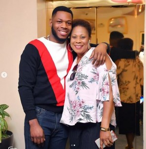 """Big Brother Naija's Frodd is in a happy mood as his mother turns a year older.   The reality star showed off his mother on Instagram and showered her with love as he celebrated her birthday.  """"Happy 50 to my Prayer Warrior . , I love you so much mum,"""" he captioned photos of him and his mum."""