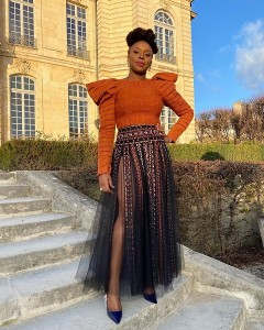 Nigeria's own internationally-acclaimed writer, Chimamanda Ngozi Adichie was among the many other celebrities who attended Dior Co