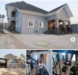 Nollywood Actor Chinedu Ikedieze known popularly as 'Aki' has revealed how he spent his Christmas holiday and it was in his newly-built multi-million naira mansion which he erected in his hometown, Uzuakoli in Bende Local Government Area of Abia State.