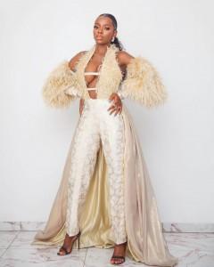 x BBNaija Housemate, Diane Yashim made a bold fashion statement at Mercy Johnson's 'The Legend Of Inikpi' movie premiere yesterday. The busty BBNaija star stormed th
