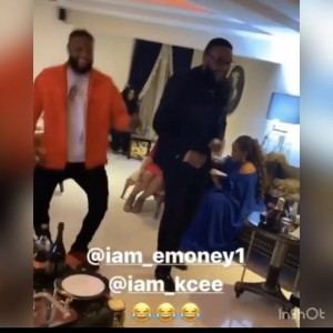 Emoney and Kcee showing off their inside life soapy dance