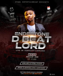 Endeetone D Beatlord who is popularly known for his exceptional performance in beat making is here again with another breath-taking move, and this time