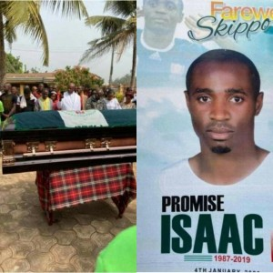 The funeral of Isaac Promise, the former Nigeria youth captain, took place in the south-eastern town of Umudim, Ohekelem, Imo State. Promise, 31, died of a suspected hear