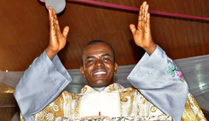 Catholic church priest, Revd. Fr. Ejike Mbaka, performed spiritual cleansing of the Imo State governor's office, as Senator Hope Uzodinma assumed office on Wednesday, The punch has learnt. Security men and civil serv