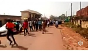 Youths of Nsukka local government area of Enugu state numbering over 1000 took to the streets of the university town in a peaceful protest demanding stoppage of second term bid of the immediate past chairman of the council, Chief Patrick Omeje.