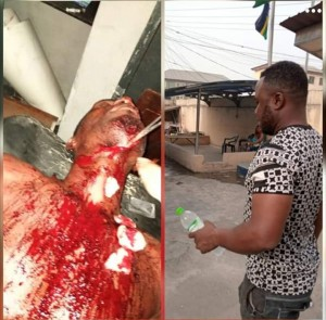 Man slaughter by a Force Man all because of Argument, itire Police station release the suspect all because he is a Force Man. we need the support of fellow nigerians, they