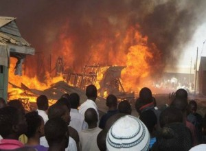 According to a report by Punch Metro, a trader on Saturday slumped and was rushed to hospital after watching his shop ruined by fire.