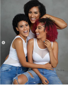 Check Out This Beautiful Photos Of Actress Juliet Ibrahim And Her Look-Alike Sisters   They all look like threeplets, but the funny part is that, they are not threeplets…