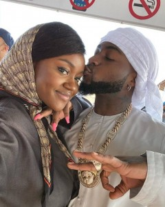 Chioma and her lover, Davido have been spotted dressed in Arabian outfit while on vacation in Dubai.  Davido and his fiancee Chioma Avril are having the best time of their lives after showing off photos while on vacation in Dubai
