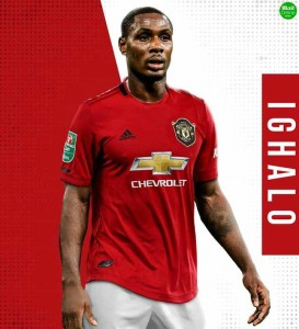 Manchester United new striker, Odion Ighalo has been handed a shirt number to wear for the duration of his stay at the club following his short-term arrival from