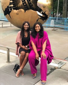 Nigerian actress Omotola Jalade Ekeinde and her daughter Meraiah are celebrating after adding a year older today.  The beautiful actress took to her social media page to share photos after clocking 42 today.  Omotola captio