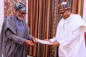 President Muhammadu Buhari on Tuesday met with the Ondo State governor, Mr. Rotimi Akeredolu, at the Presidential Villa, Abuja