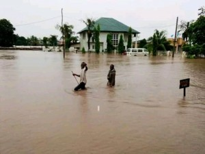 Sacred Heart Catholic Church Gwagwalada In A Pool Of Water As Flood Invades