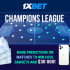 1xBet is ramping up the Champions League thrills with a fantastic new promotion! From the Champions League round of 16, players at 1xBet can make predictions on games, confirm each with a bet, and accumulate points each tim