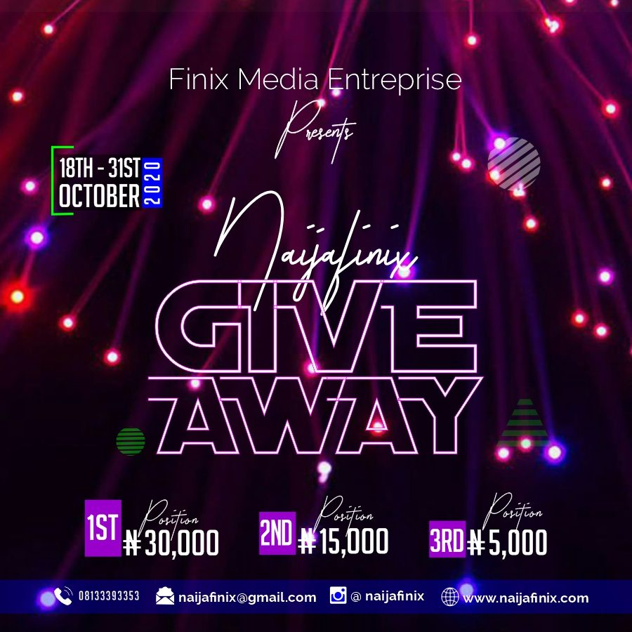 Cash Prizes To Be Won In The Naijafinix Sponsored Give Away