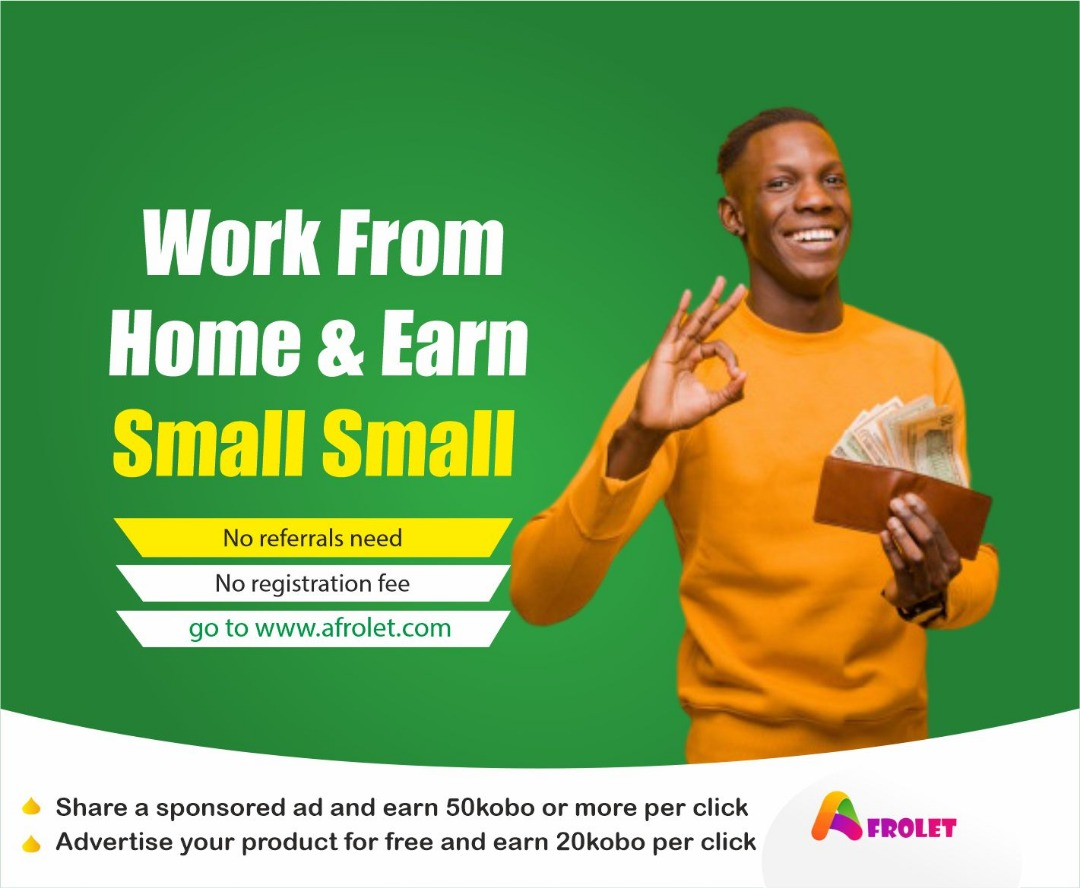 SPONSORED:- Afrolet Free Earning Campaign (Work From Home Promo)