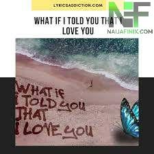 Download Music Mp3:- Ali Gatie - What If I Told You That I Love You