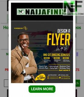 Do you have a brand/business, you'll like millions of Internet users to be aware of? Advertising with us today, will definitely guarantee you of maximum sales on your goods/services. This form of online advertisement is intended to generate/attract tr