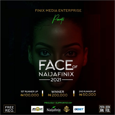"It is another season yet again, as we bring to you the ""FACE O F NAIJAFINIX"", where only three (5) persons either male or female becomes the brand faces of the company (Finix Media Enterprise)."