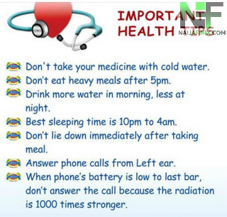 Important Health Tips For Your Daily Life
