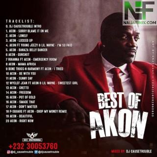 Download Mixtape Mp3:- DJ Causetrouble – Best Of Akon